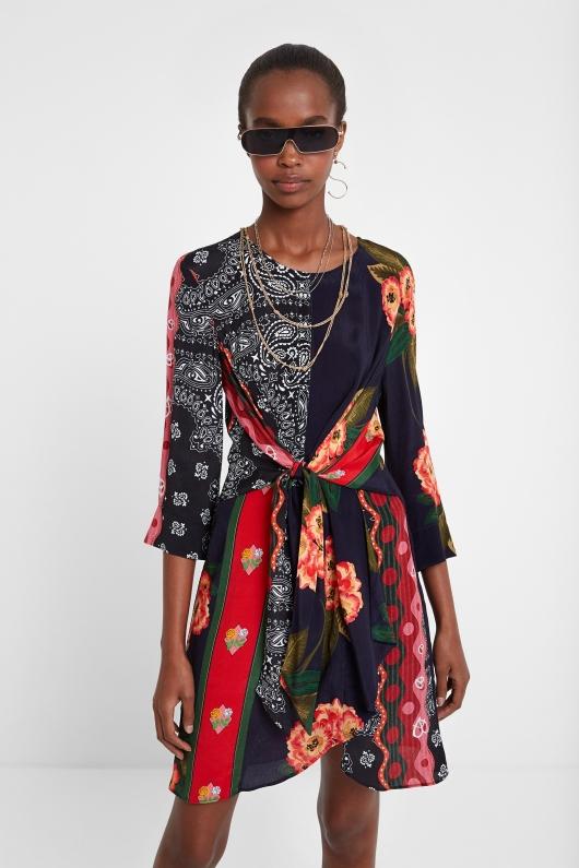 rochie-mix-materiale-desigual-extravaganta