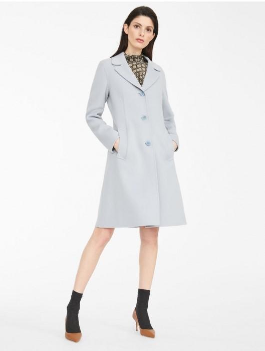 Palton din lana albastru deschis