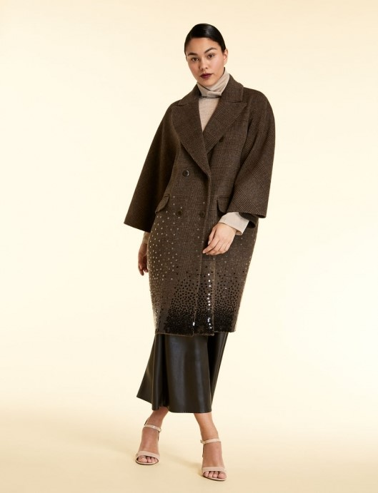 Palton oversized cu paiete Marina Rinaldi