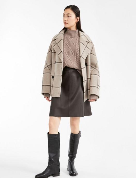 Palton scurt cu pătrățele, oversized, de la Max Mara Weekend
