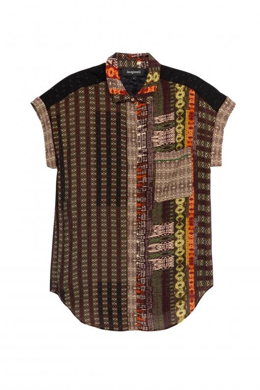 Camasa cu motiv africane pentru un look boho de vara