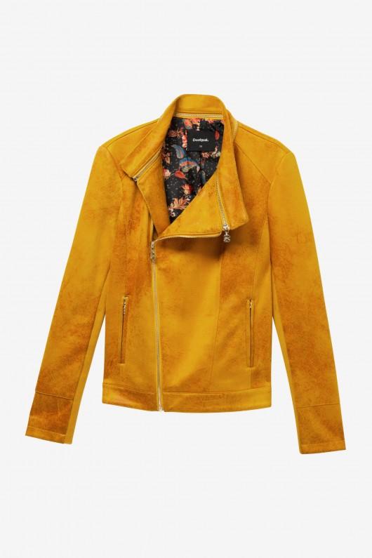 Jacheta culoare mustar, perfecta pentru a completa un look boho