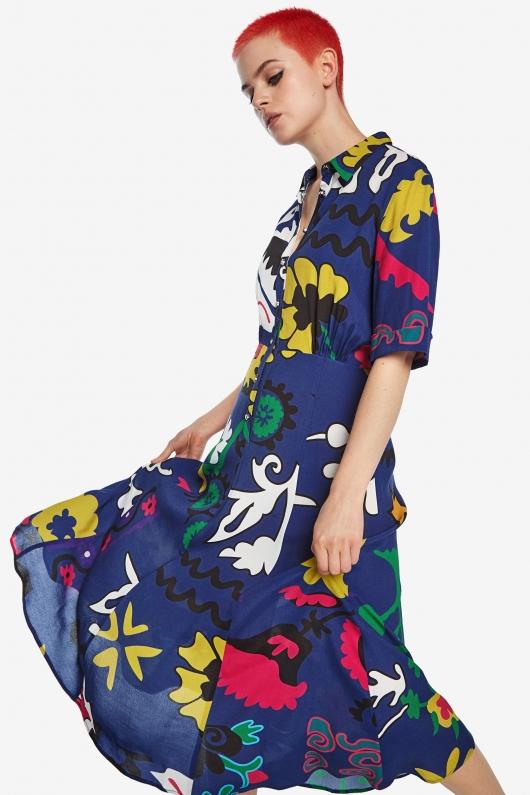 rochie de vara midi cu flori