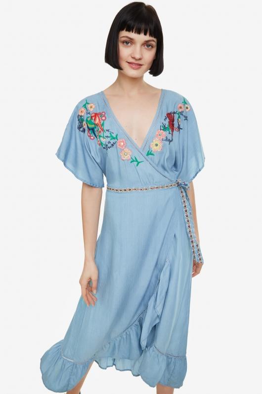 rochie midi de zi de vara