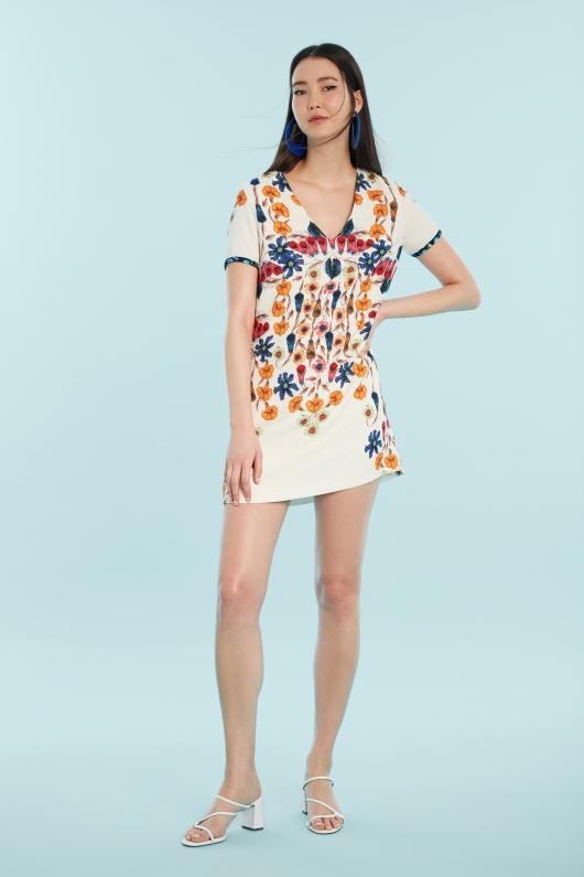 rochie de vara imprimeuri florale