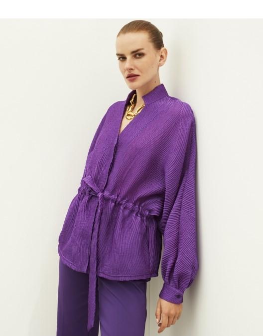 Bluza mov Ipekyool in stil retro