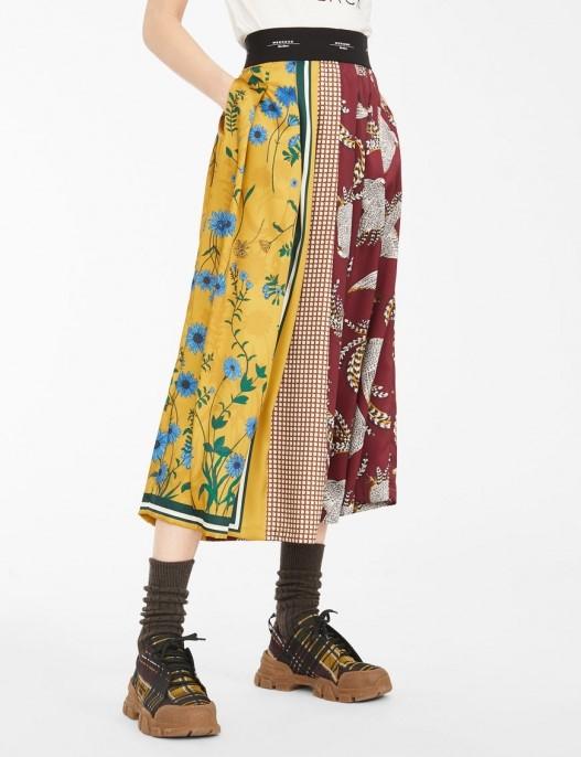 Fusta midi cu print multicolor Max Mara