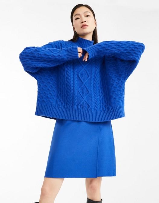 Pulover Max Mara albastru retro