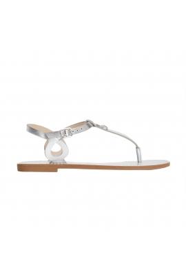 Sandale Flat Heel Sandals Pineapple Silver
