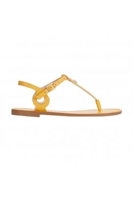 Sandale Flat Heel Pineapple Galbene