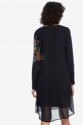 Rochie Desigual neagra cu print floral