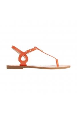Sandale Pineapple portocalii cu talpa joasa