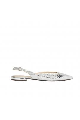 Pantofi argintii cu talpa joasa