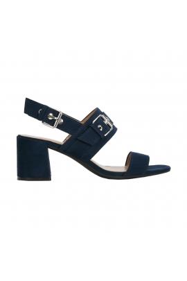 Sandale cu toc mediu albastre