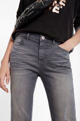 PANTALONI DENIM GRI