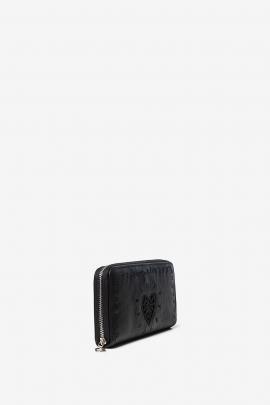 PORTOFEL negru cu broderie