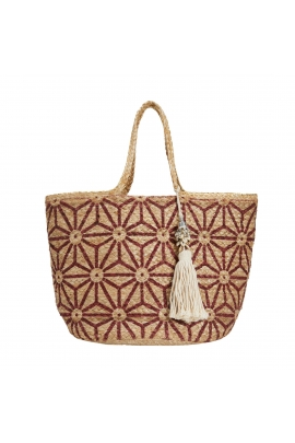 Shopper Bag Beach Bag  Red L