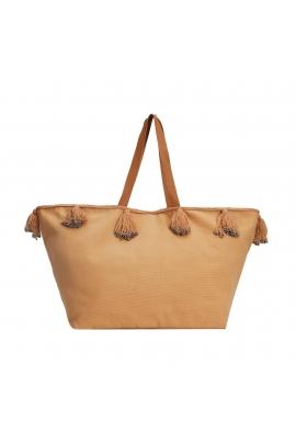 Shopper Bag Elephants Total Look Beige L