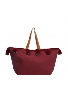 Shopper Bag Elephants Total Look Burgundy L