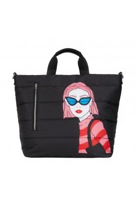 Shopper Bag FACES Black L
