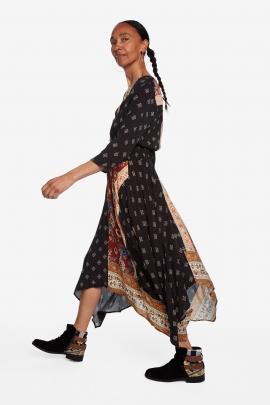 Rochie lunga asimetrica