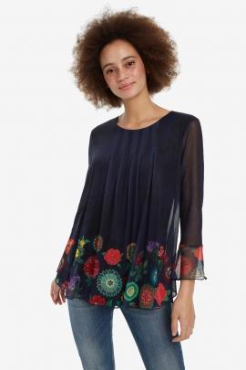 Bluza cu strat exterior din plasa Rachel