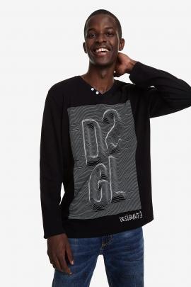 Tricou cu imprimeu iluzie optica