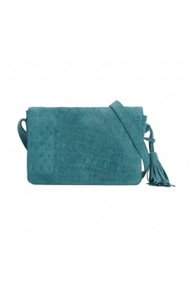 Crossbody Bag Zebra Total Look Turquoise M