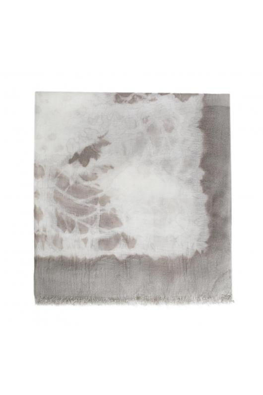 Printed Scarf Wild Nature Grey M
