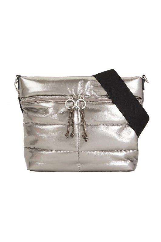 Crossbody Bag PUFFY Silver S