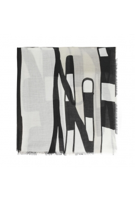Printed Scarf STAR DUST Black M