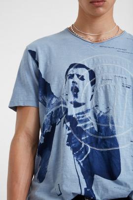 Tricou albastru Freddy Mercury