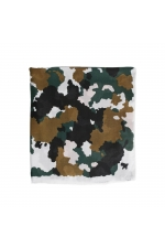 Printed Scarf Camouflage Green M