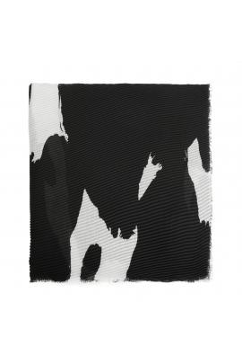 Printed Scarf Dots Black M