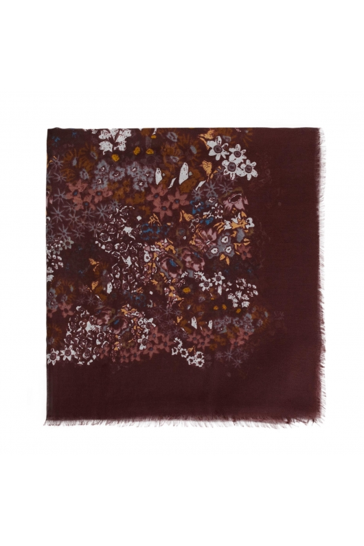 Printed Scarf GENERAL SCARVES Burgundy M