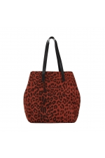 Shopper Bag Dots Total Look  Brick Red M