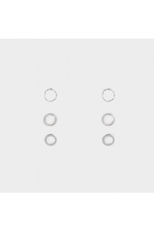 Set of Earrings SILVER BASICS Silver U