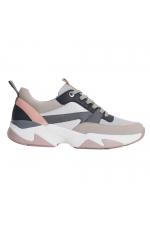 Sneakers gri&roz