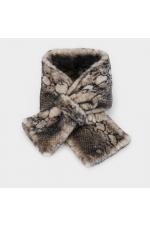 Fur Stoles Strong Winter Dark Grey M