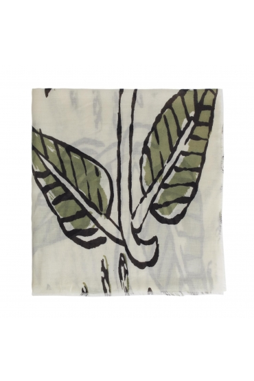 Printed Scarf Green M