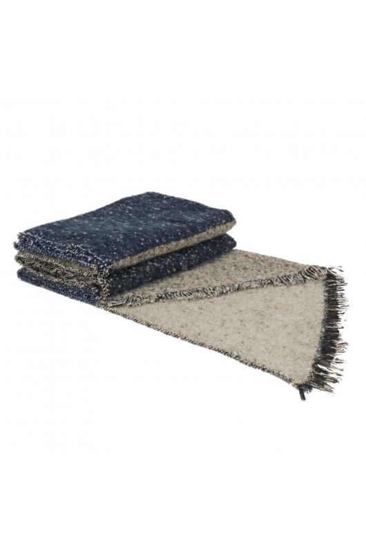 Blanket Scarves Winter Colorful Blue M