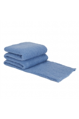 Blanket Scarves Winter Colorful Blue XL