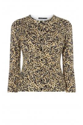 Cardigan cu print leopard