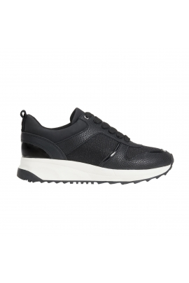 Sneakers negri cu Lurex