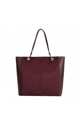 Shopper Bag VELOUR 3 Burgundy M