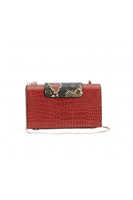Box Bag TREASURE Brick Red M