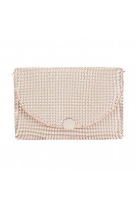 Crossbody Bag BALL MESH Rose Gold M
