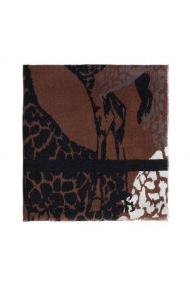 Blanket Scarves Giraffe Total Look Brown M