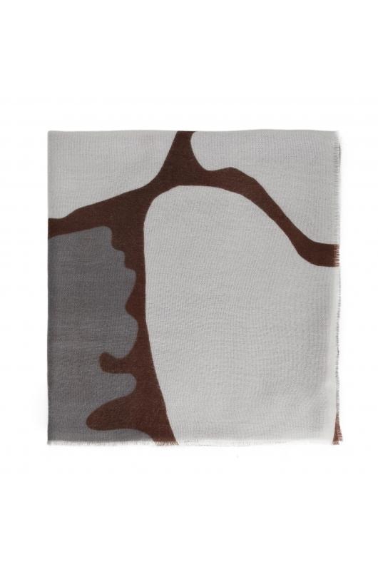 Blanket Scarves Giraffe Total Look Dark Multicolor M