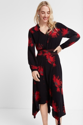 ROCHIE BUTTERFLY NEAGRA CU PRINT FLORAL